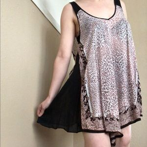 Free People Intimately Leopard Print Slip Dress Sm